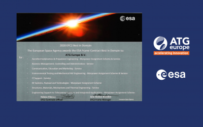 """ATG Europe is Awarded as """"Best in Domain"""" in eight ESA Frame Contract (EFC2) Domains"""