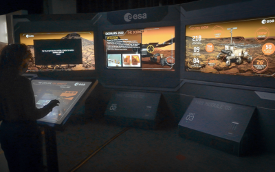 ATG Europe contributes to winning three C2A Awards for ESTEC's Mars Interactive Touch Tables